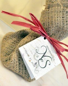 Customize wedding guest favors