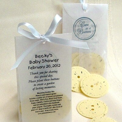 go yellow with baby shower favors that are stunningly unqiue