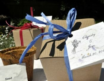 Love-in-a-Mist Eco Gift Box Favors